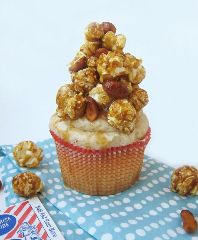 cracker jack baseball cupcake recipe