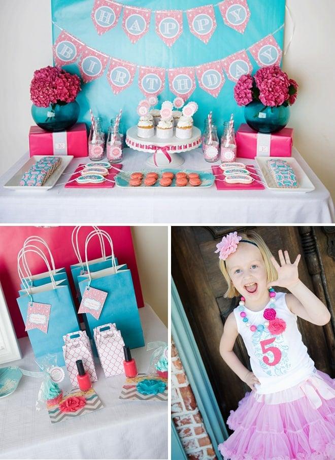 cute spa 5th birthday party