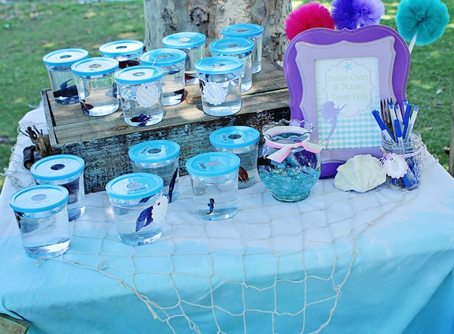 fish birthday party favors