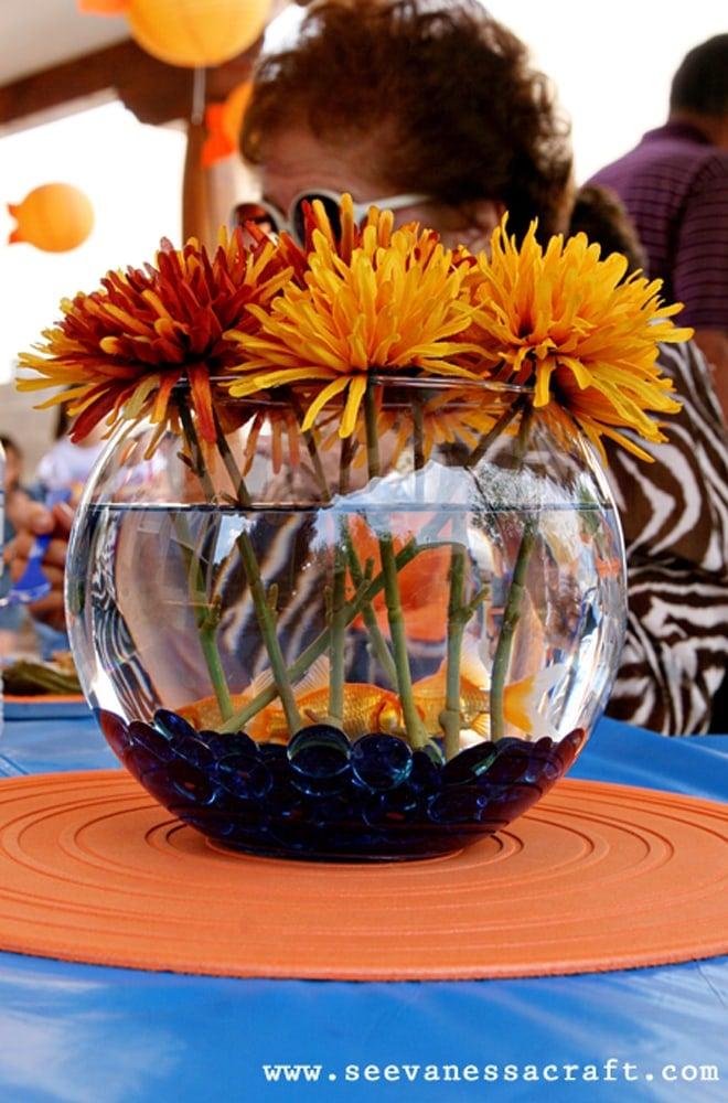 Polka Dot Goldfish 2nd Birthday Party Pizzazzerie