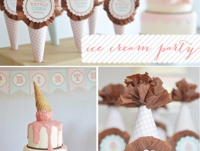 Summer Ice Cream Parlour Party