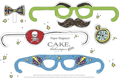 pop-out placemats paper for kids party