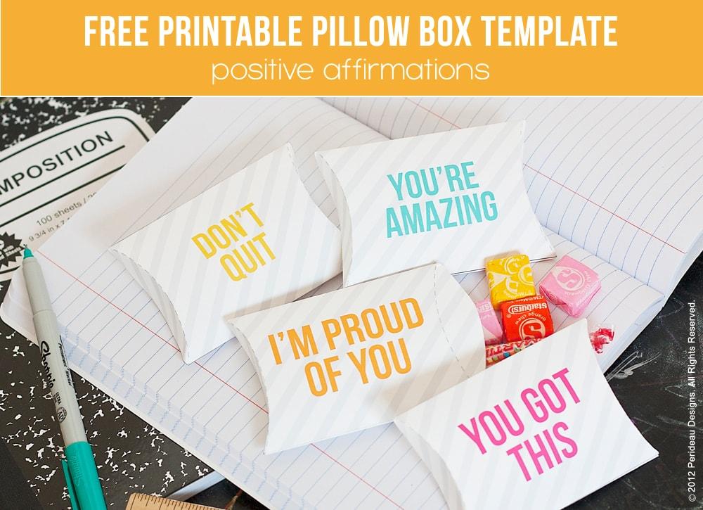 lunchbox free printable pillow box