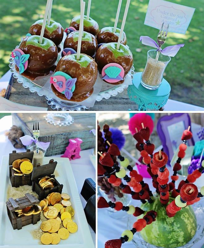 mermaid birthday party treats