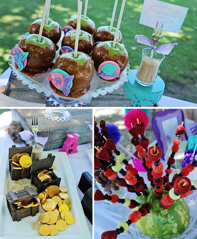 mermaid birthday party treats