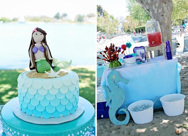 ombre mermaid birthday party 2