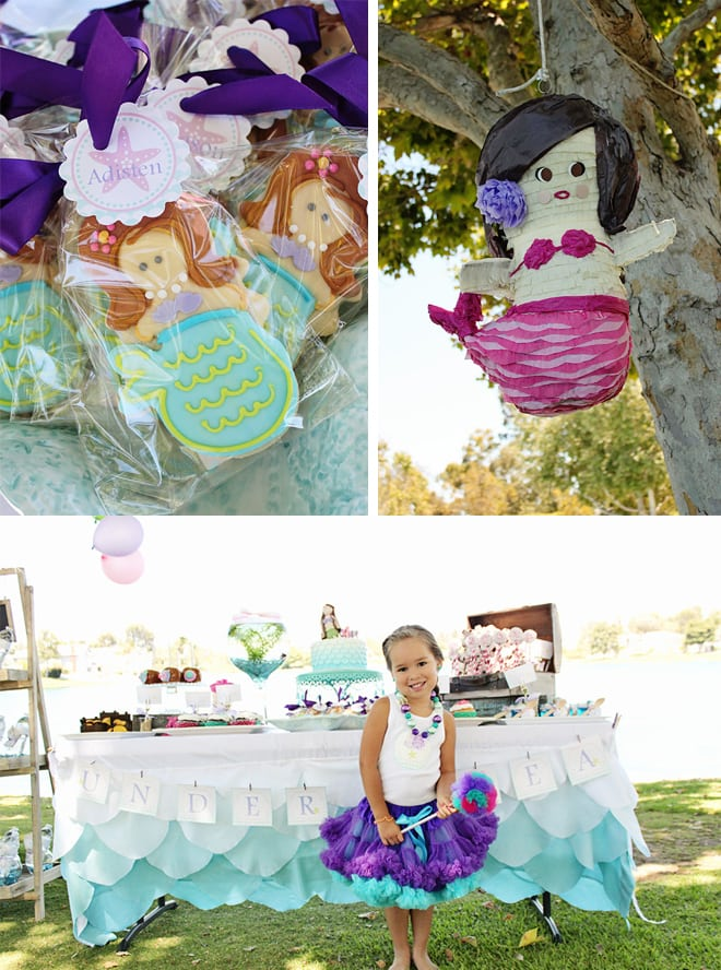 ombre mermaid birthday party 3
