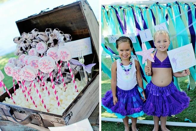 ombre mermaid birthday party treats