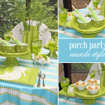 seaside porch dinner party