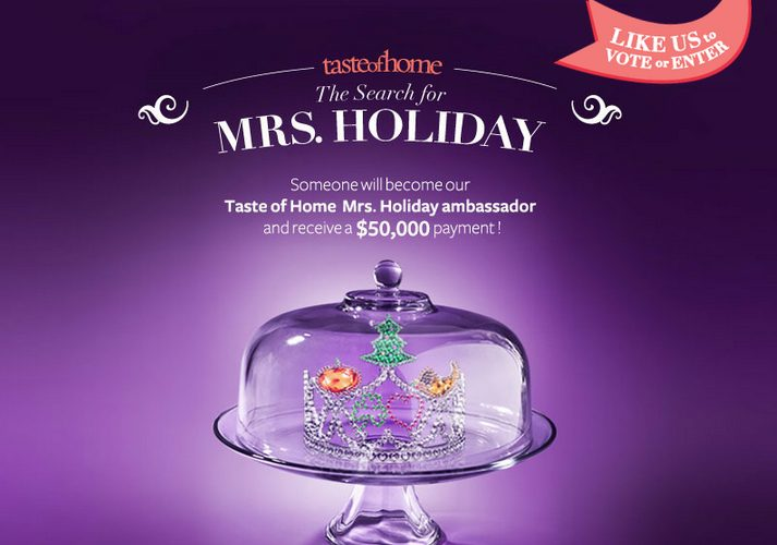 """Taste of Home's """"Mrs. Holiday"""" Search!"""
