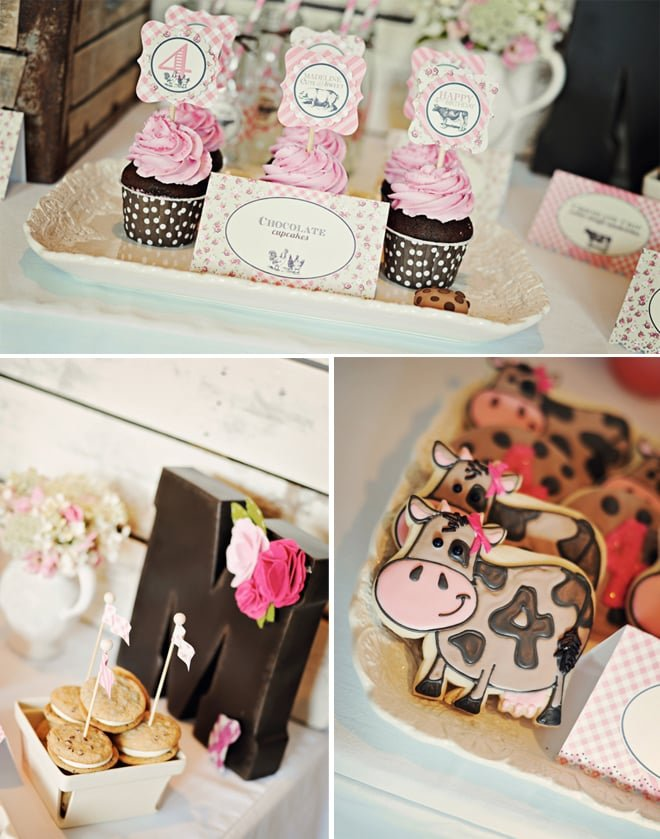 vintage farm fresh birthday party 3