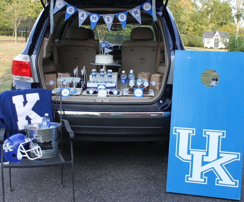 Blue + White Tailgate Party Ideas!