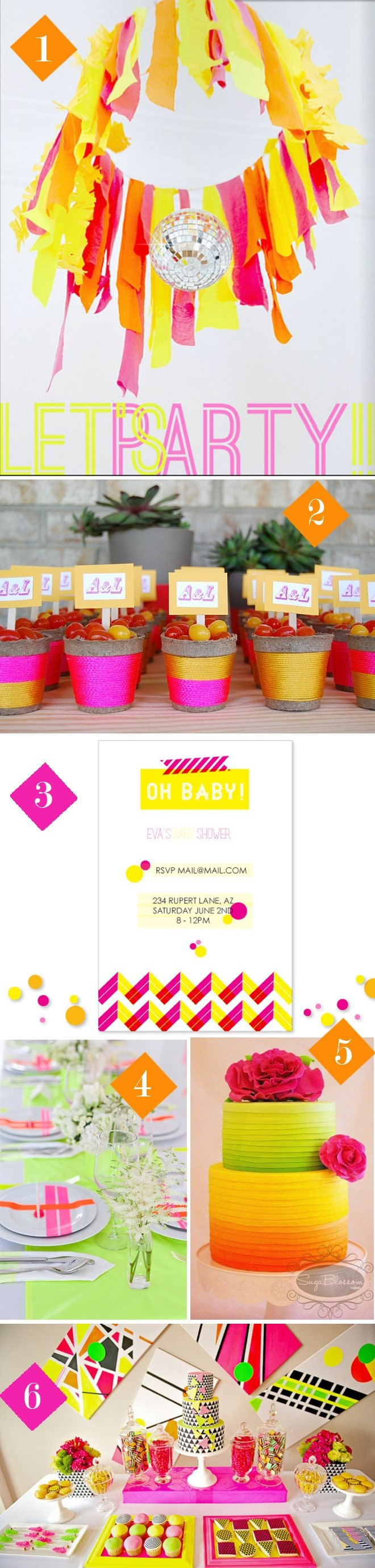 Awesome Neon Wedding and Party Details and Decorations!