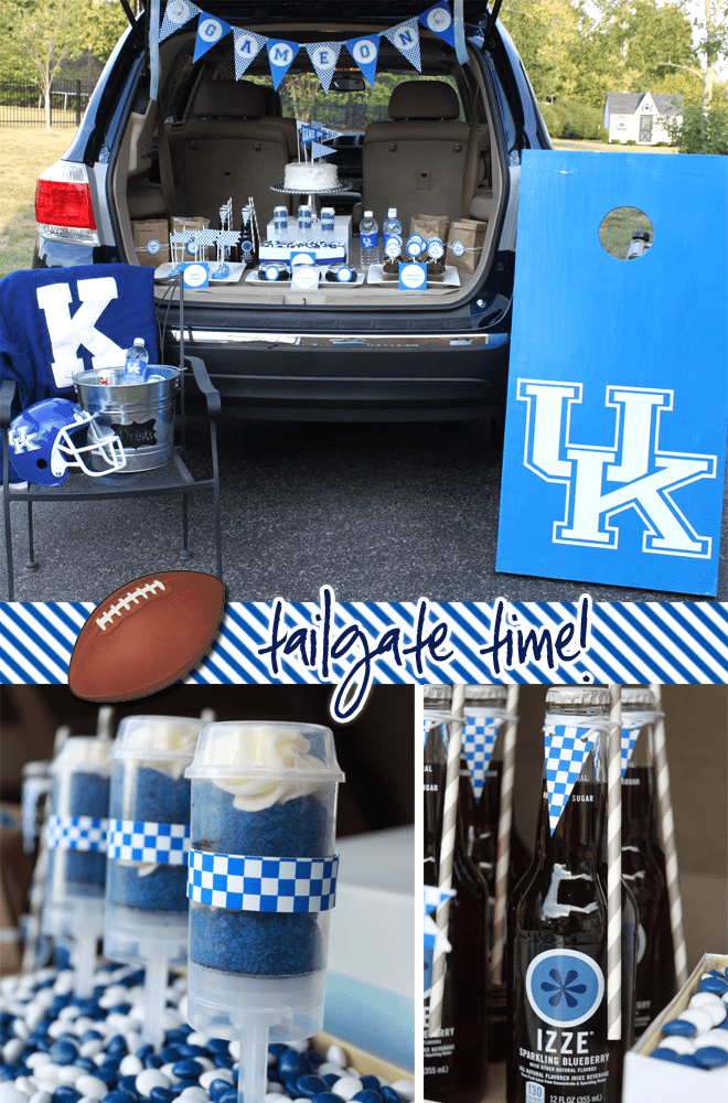 Blue and White University of Kentucky Tailgate Party Ideas
