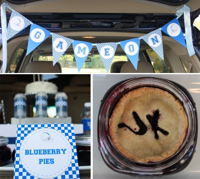 Blue and White University of Kentucky Tailgate Party Pies
