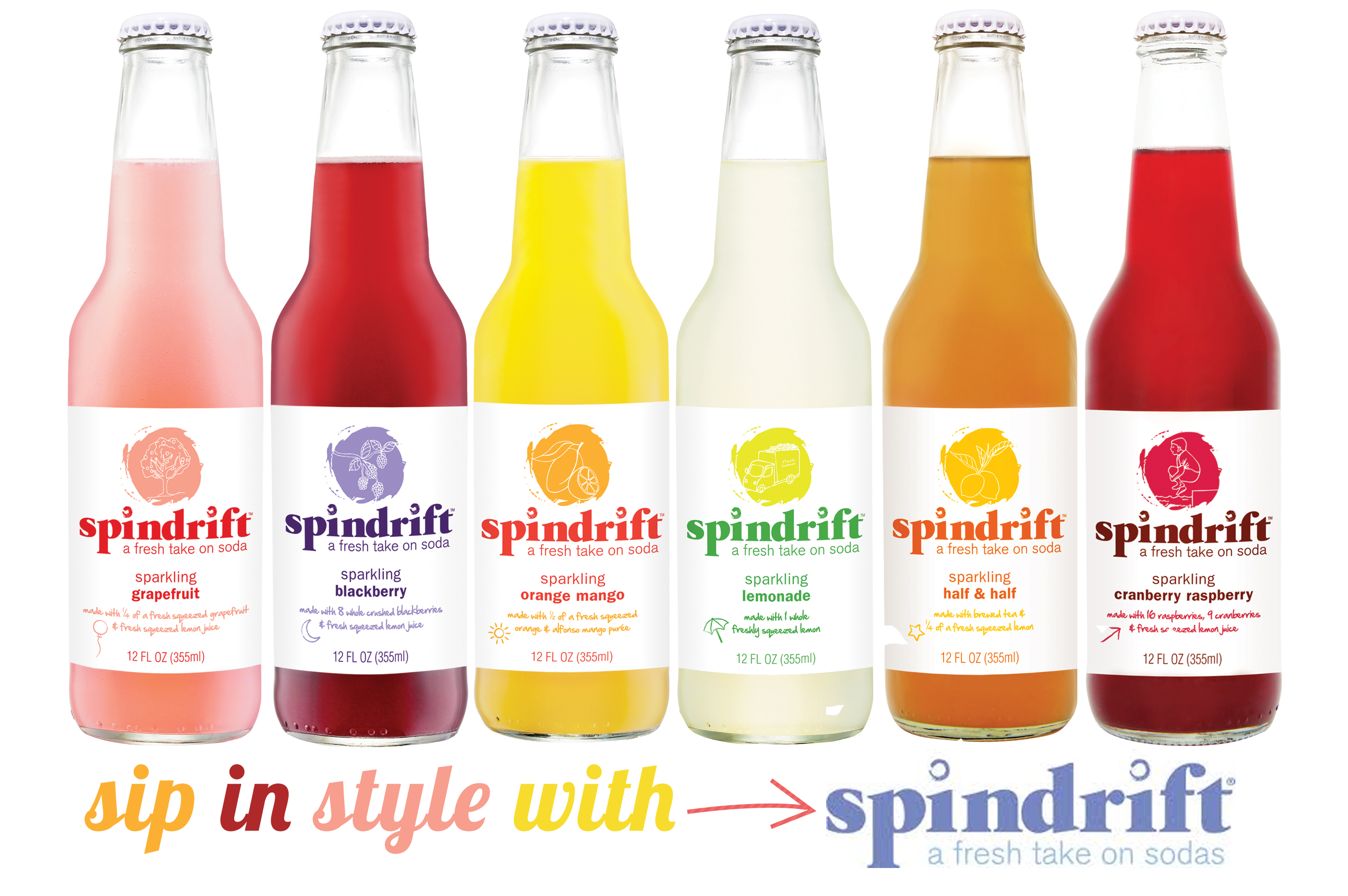 Sip in Style with SPINDRIFT! Sodas + Sparkling Waters!   Pizzazzerie