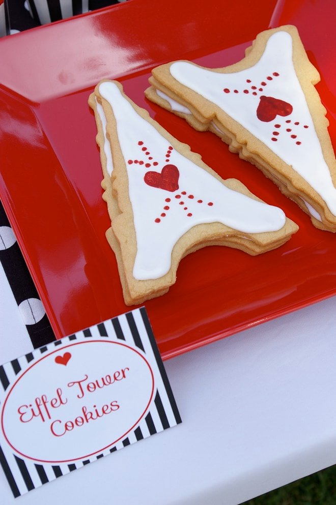 eiffel tower cookies for french party