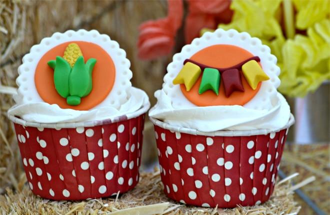 festa junina cupcakes