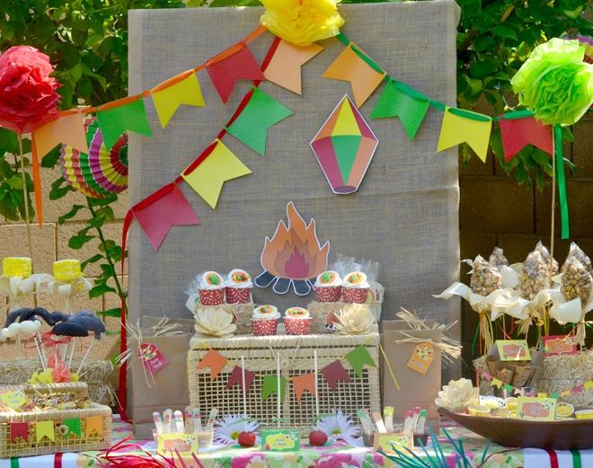 festa junina party table