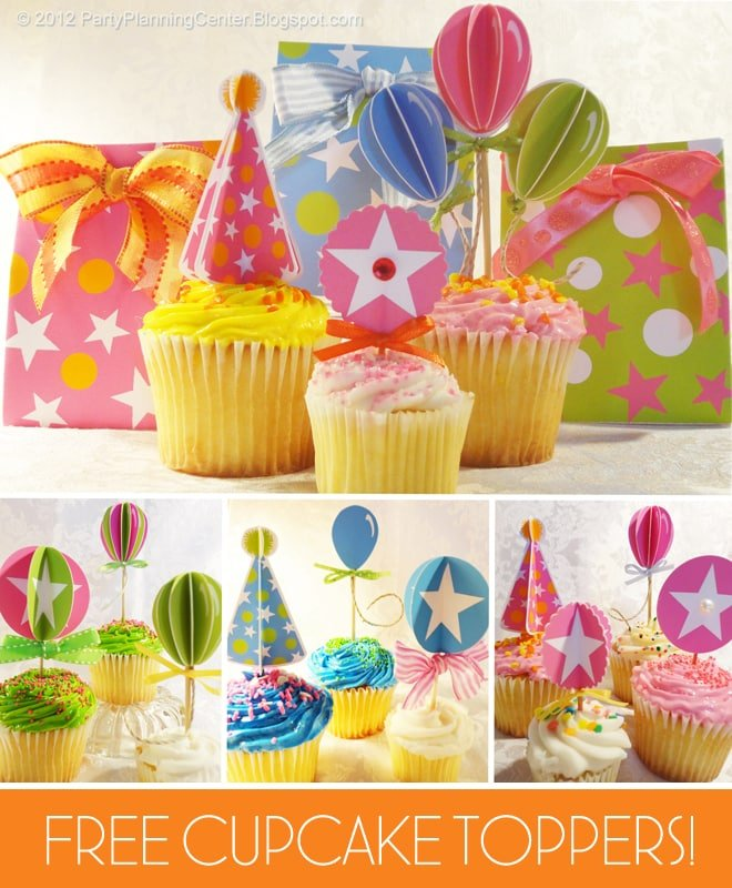 free cupcake toppers