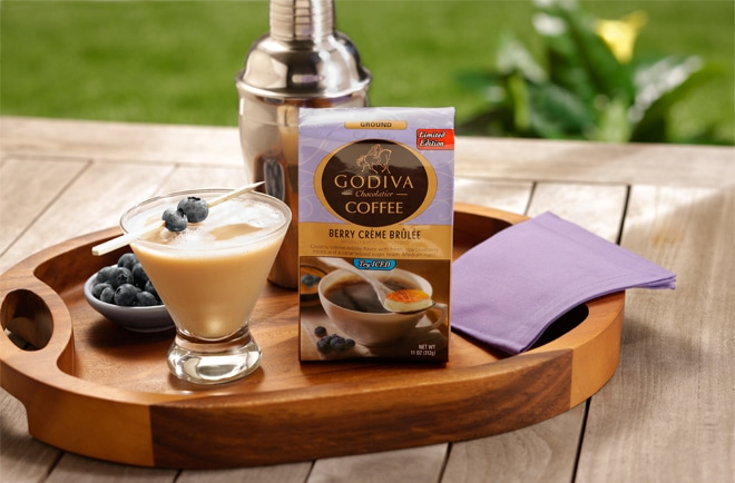 godiva coffee on pizzazzerie