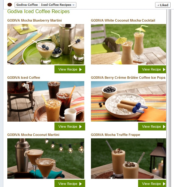 godiva facebook recipes