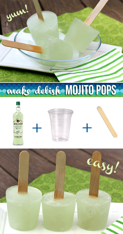how to make bacardi mojito popsicles