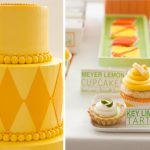 Colorful Orange + Lime Wedding Dessert Display