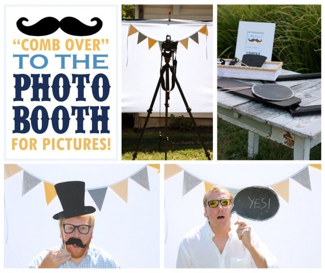 Photo Booth at Little Man Mustache and Tie Party