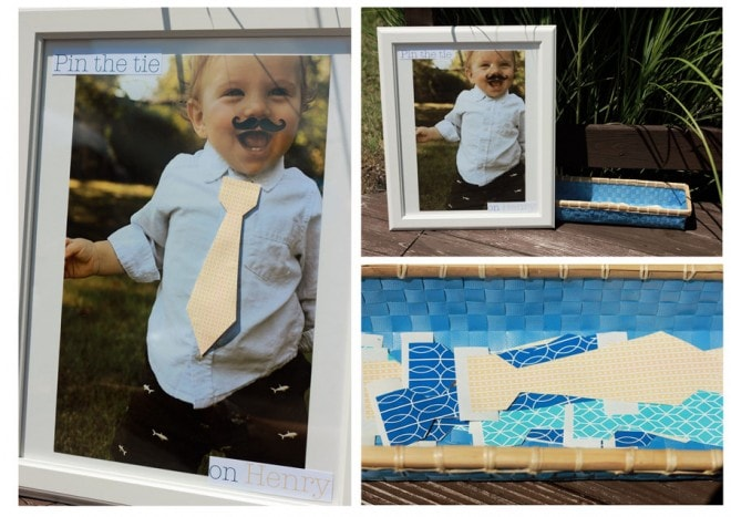 Little Man Mustache Pin the Tie Party Game
