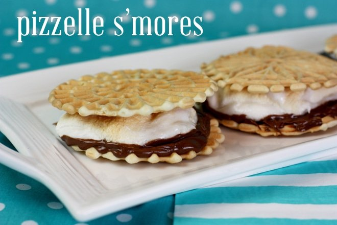 pizzelle s'mores with nutella
