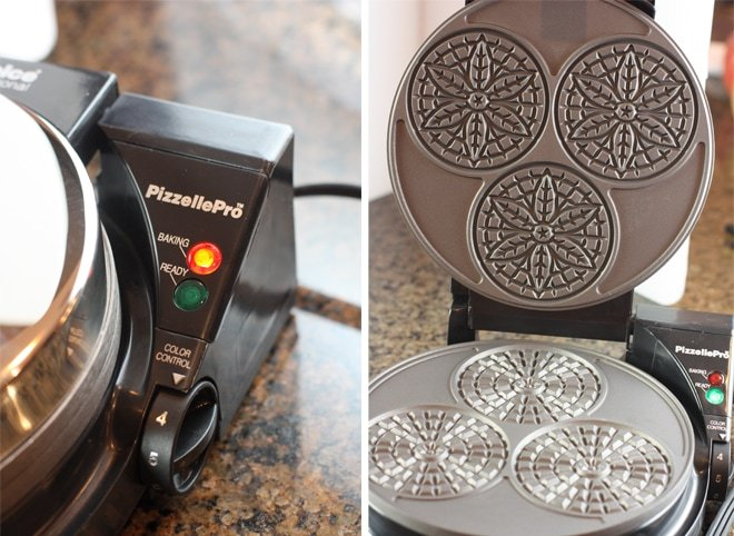 pizzelle maker by chef's choice