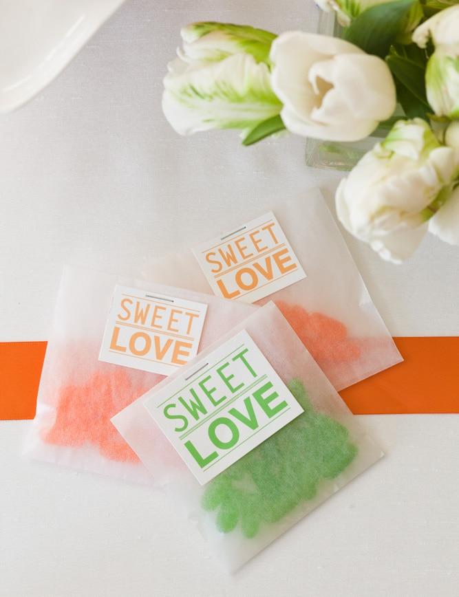sweet love favor bags