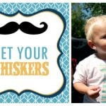 """Little Man"" Party: Mustaches + Ties!"