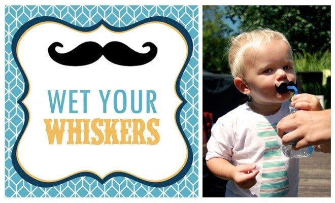 "A ""Little Man""  Mustaches + Ties Birthday Party!"