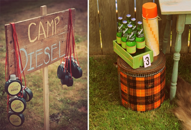 Camping Party Ideas Wooden Sign