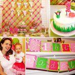 Cute girl bug birthday party