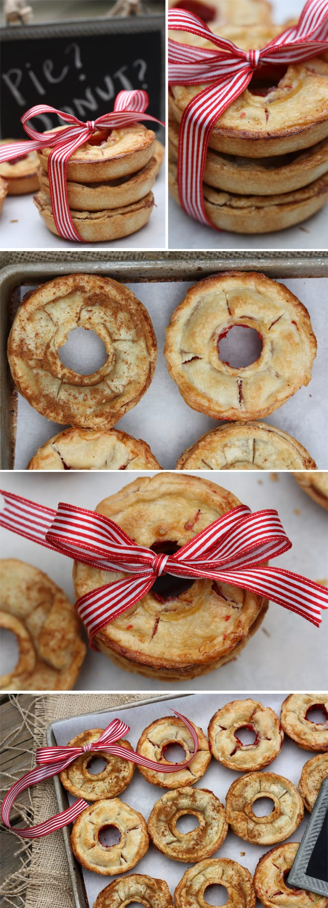 Donut Shaped Mini Cherry and Apple Pies
