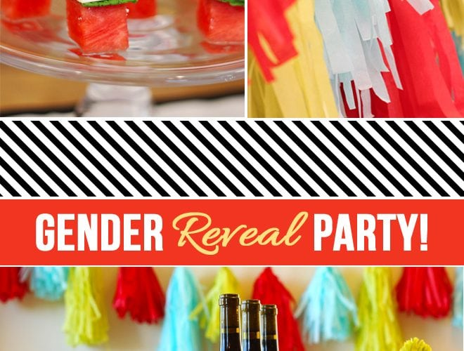 Colorful Gender Reveal Party