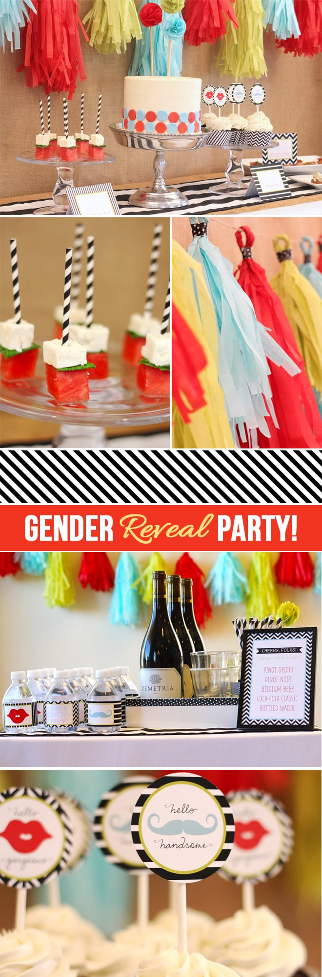 Gender Reveal Party Ideas on Pizzazzerie