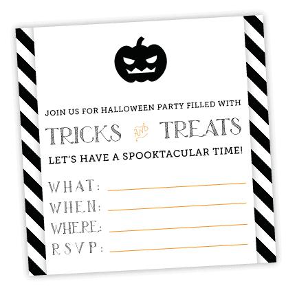 Free Printable Halloween Invitation