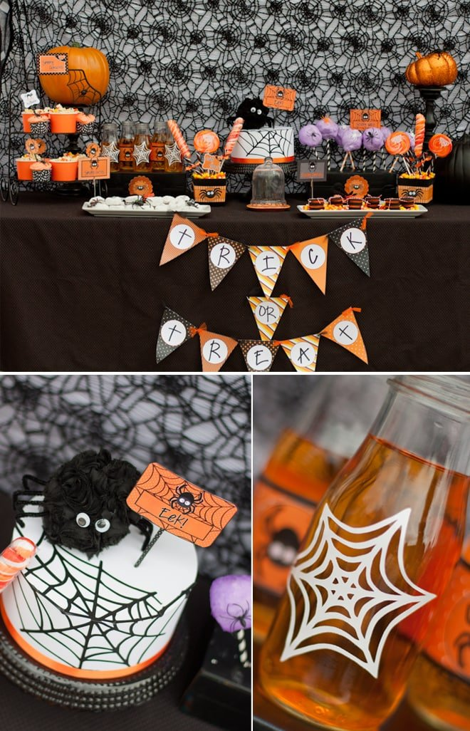 Spooky Cute Halloween Party in Black and Orange!
