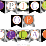 free trick-or-tree halloween party banner for download on pizzazzerie!