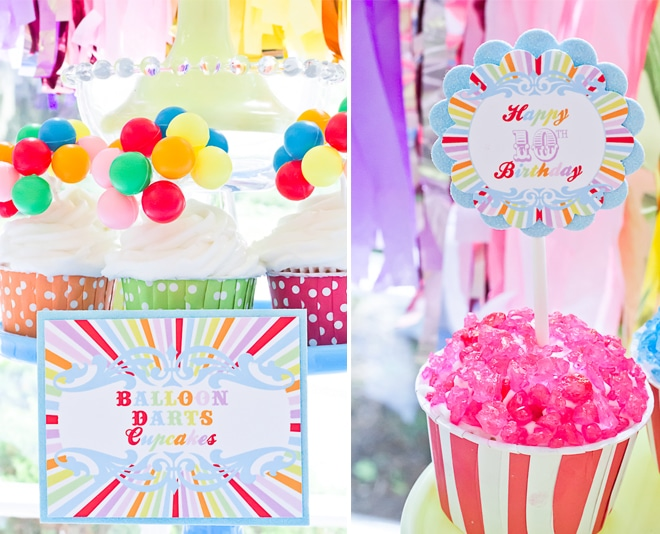 Vintage-Inspired Coney Island Carnival  Birthday Party on Pizzazzerie