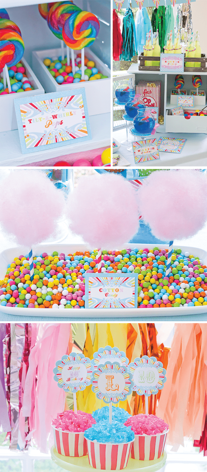 Vintage Carnival Party Food Cotton Candy