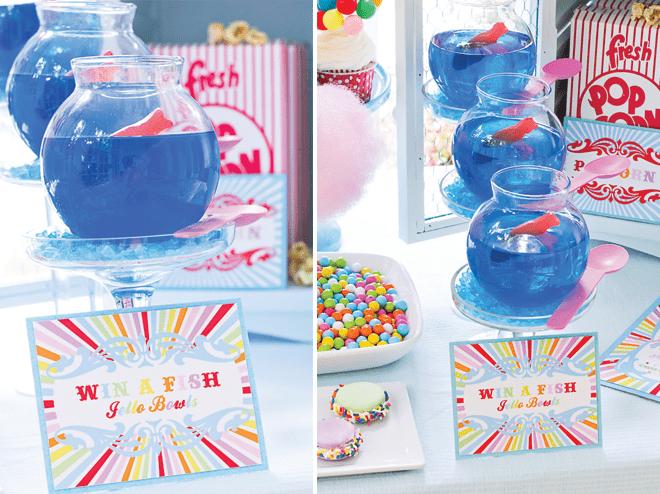 Win a Fish Bowl Game at Carnival Party