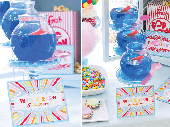 Win a Fish Bowl Game at Carnival Party