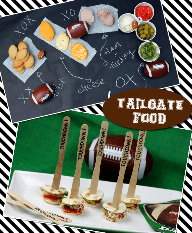 Tailgate Food: Football Sandwich Bar + Touchdown Taco Bites!