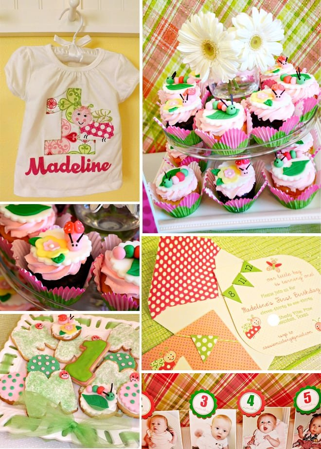 cute pink and green girl's birthday party