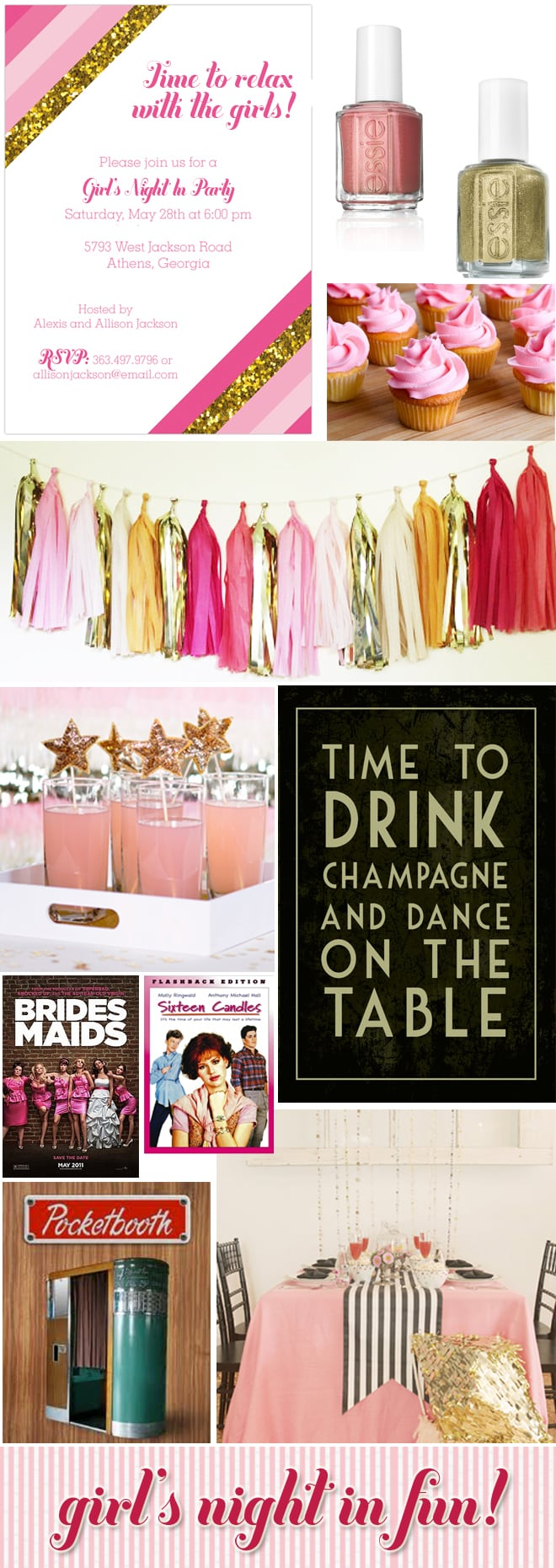 girl's night in party ideas